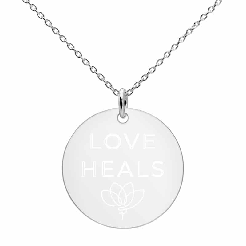 Closeup Love Heals Necklace in Sterling Silver