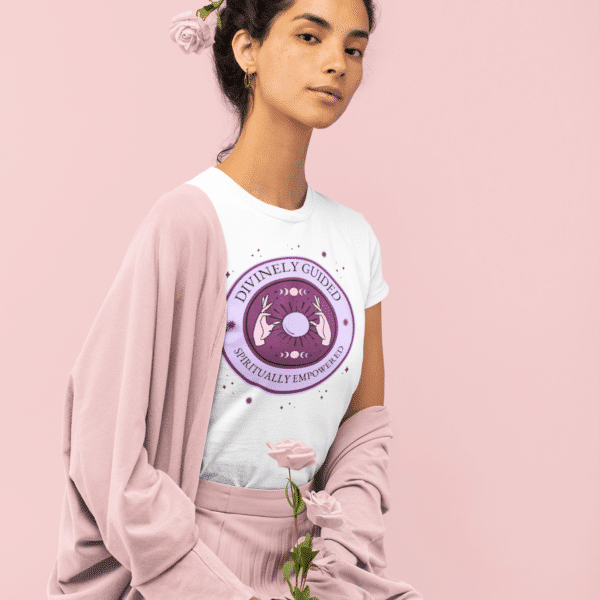 Woman with flowers in her hair and Divinely guided T shirt