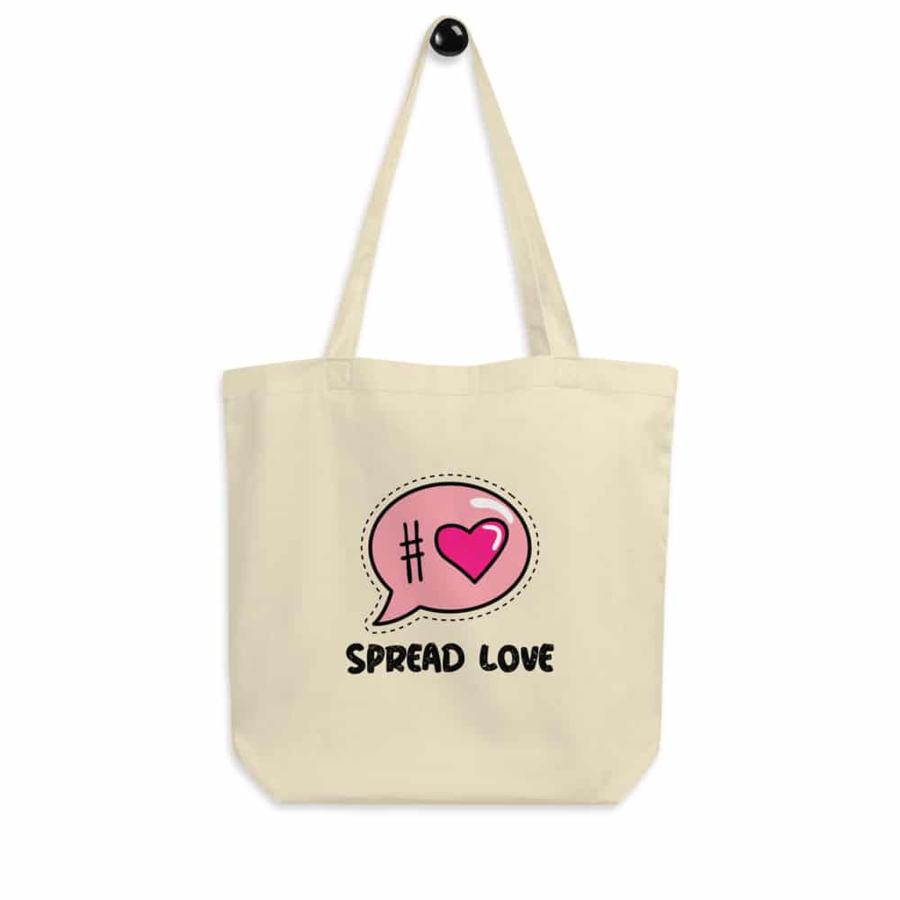 Spread Love Tote Bag with White Background